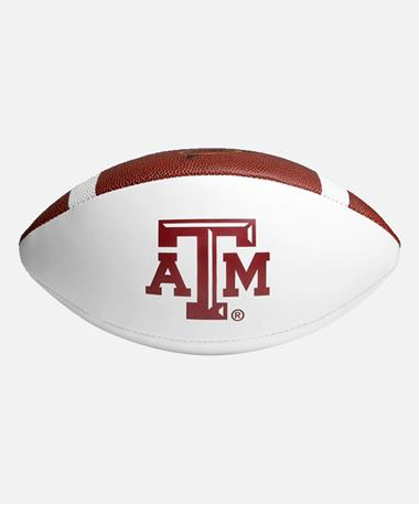 Wilson Texas A&M Autograph Football - White Side Multi