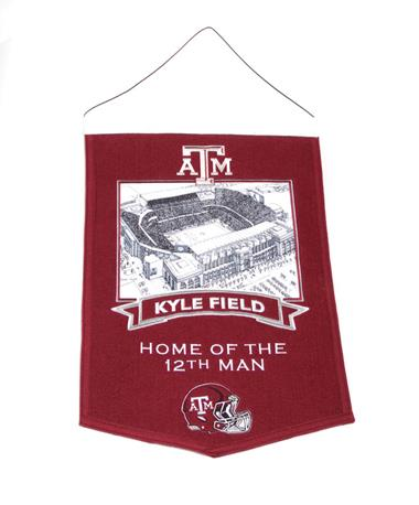Texas A&M Kyle Field Home of The 12th Man Banner