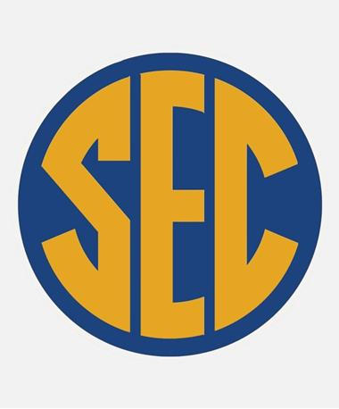 SEC Decal 5X6 Blue/Yellow