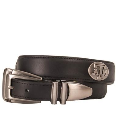 Texas A&M Black Leather Belt Black