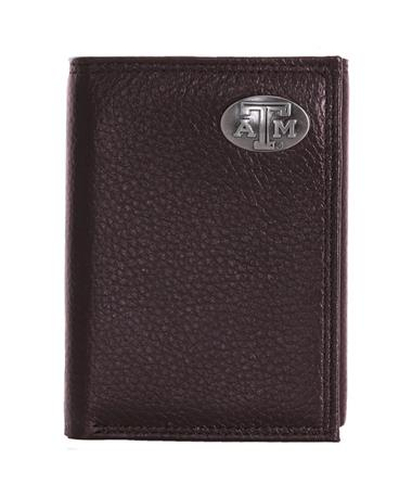 Zepplin Texas A&M Pebble Grain Trifold - Brown Brown