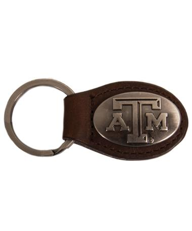 Leather Concho Key Fob - Brown Brown