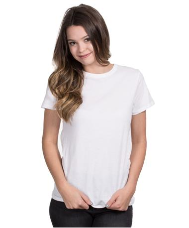 ZSupply Womens Core Crew Tee - Front White