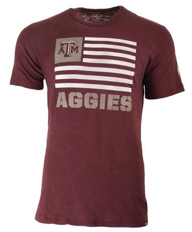 Texas A&M `47 Brand Two Peat Scrum Tee - Front Dark Maroon