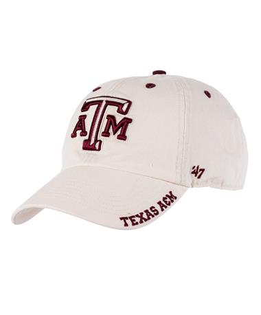 Texas A&M `47 Brand Beveled Ice Cap - Natural - Front Natural