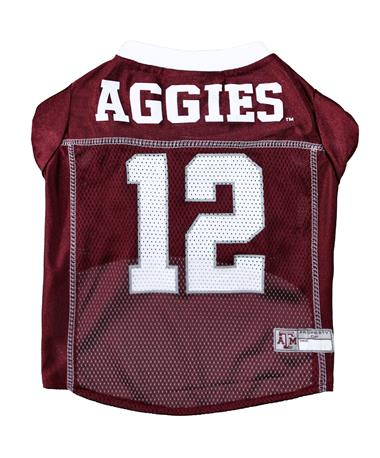 Texas A&M Aggies Pet Jersey - Back MAROON