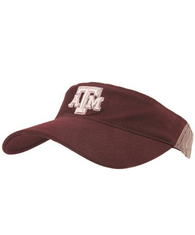 Adidas Texas A&M Aggie Adjustable Visor - Maroon - Front Maroon