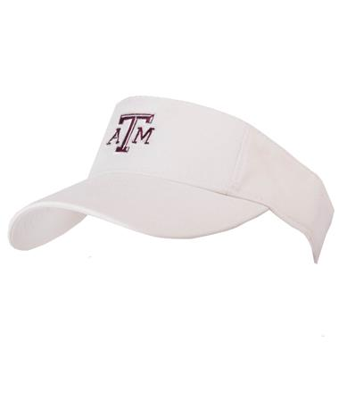 Adidas Texas A&M Aggie Adjustable Visor-front White