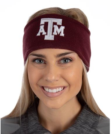 Adidas Texas A M Aggies Earband-front Maroon