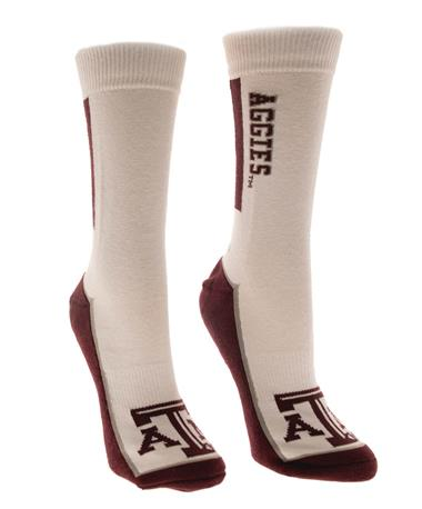 Adidas Texas A&M Aggie Bar Sock White