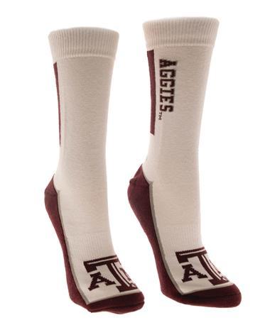 Adidas Texas A&M Aggie Bar Sock White