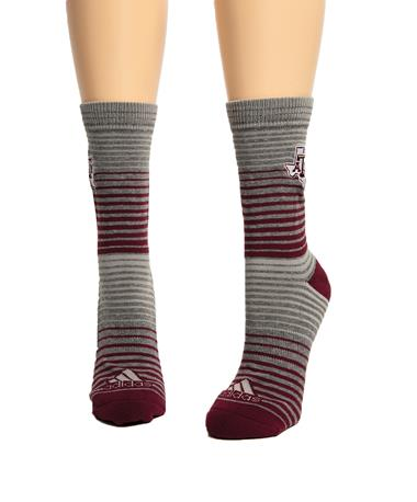 Adidas Texas A&M Aggie Fade Stripe Sock Grey