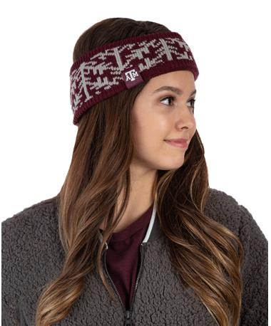 Adidas Texas A&M Snowflake Headband Maroon