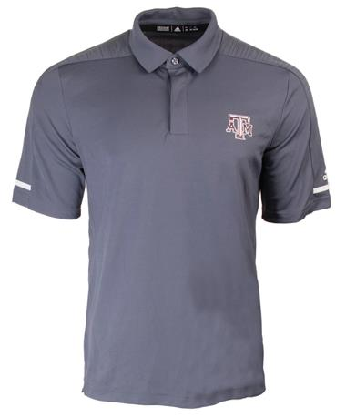 Adidas Texas A M Aggie Team Coaches Polo Grey