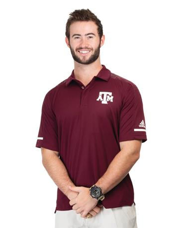 Adidas Texas A&M Aggie Team Coaches Polo Maroon