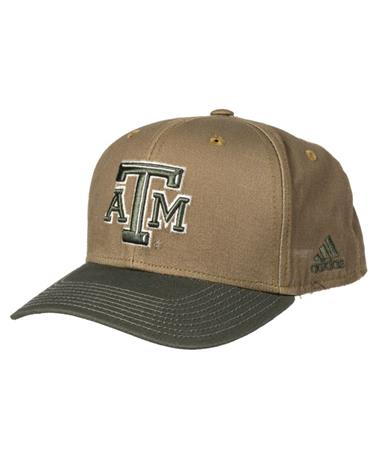 Adidas 2018 Texas A&M Olive Adjustable Hat Front Olive/Khaki