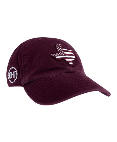 2018 `47 Brand Texas A&M Aggie OHT Maroon Cap - Front Maroon