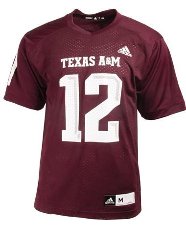 Adidas Texas A&M Aggies Replica Jersey - Maroon - Front Maroon