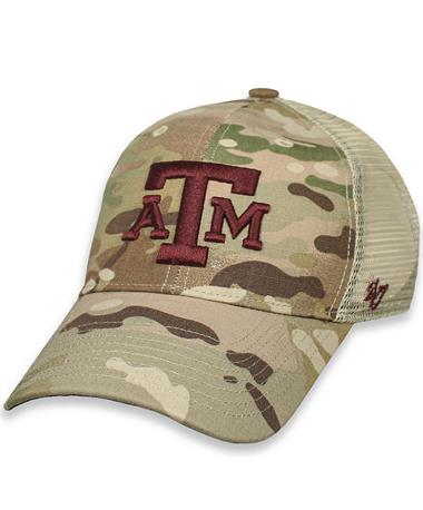Texas A&M `47 Brand Thompson OHT Cap - Front Camo