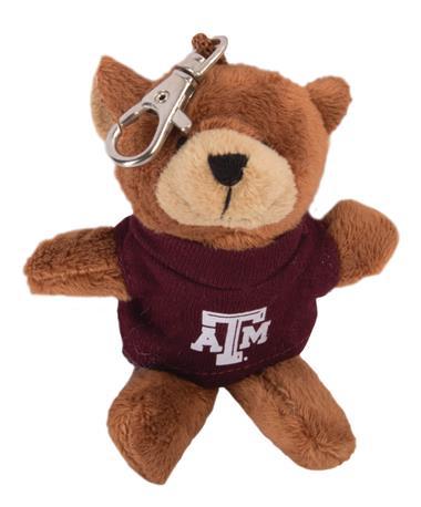 Texas A&M Aggie Wild Bunch Bear Keychain Maroon