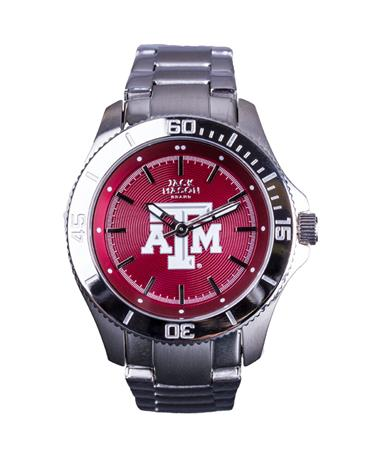 Texas A&M Jack Mason Ladies Sport Bracelet Watch Silver/Maroon