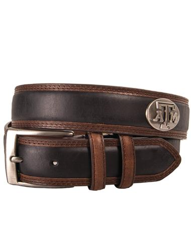 Texas A&M Zepplin Two Tone Concho Belt
