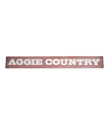 Aggie Country Doorway Sign Maroon
