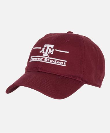 Texas A&M Split Bar Former Student Cap Front Maroon Maroon