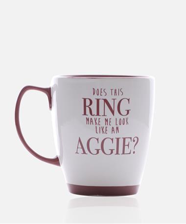 Texas A&M Aggie Does This Ring Mug - Back White/Maroon
