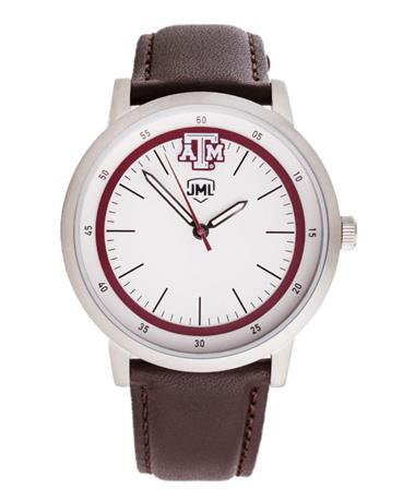 Texas A&M Jack Mason Brown Leather Watch