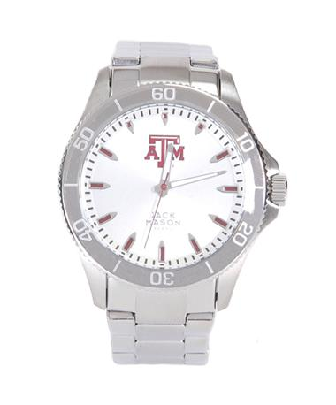 Texas A&M Jack Mason Stainless Steel Watch Silver/Maroon