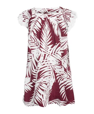 Escapada Kids Tasseled Cannon Dress - Front Maroon/White