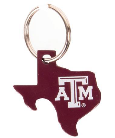 Texas A&M Bottle Opener Keychain Maroon