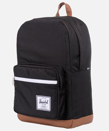Herschel Pop Quiz Backpack Black/Tan Front Black/Tan
