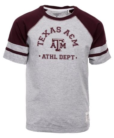 Garb Texas A&M Aggie Andre Youth Tee Grey/Maroon
