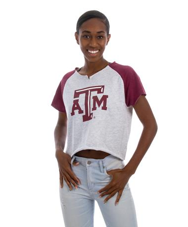 Texas A&M Aggies ZooZats Snap Sweat Tshi- front GREY/MAROON