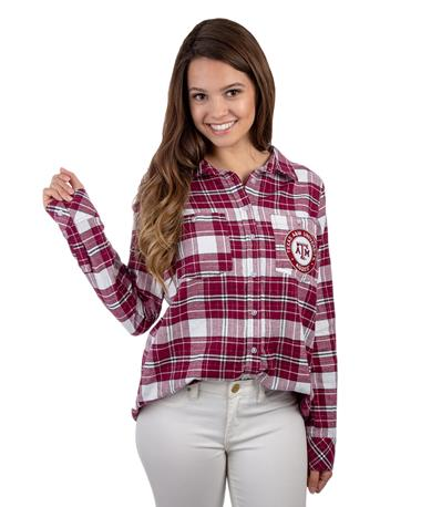 Texas A&M Aggies ZooZats Warm Up Flannel MAROON/WHITE