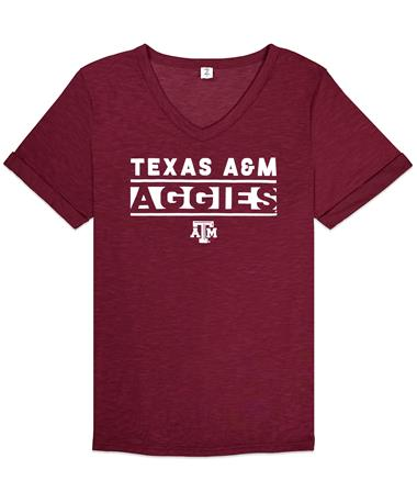 Texas A&M Aggies ZooZatz Juke Knotted Tee - Front MAROON
