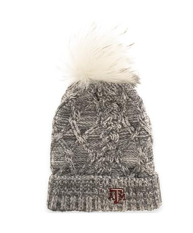 Texas A&M Aggies ZooZats Marled Beanie-Front GREY