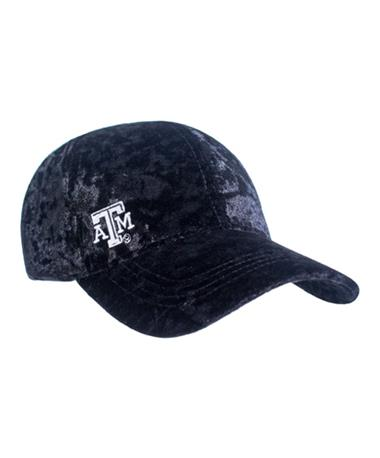 Texas A&M Crushed Velvet Hat - Front BLACK