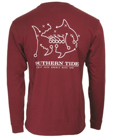 Southern Tide Texas A&M Skipjack Play Long Sleeve - Back MAROON