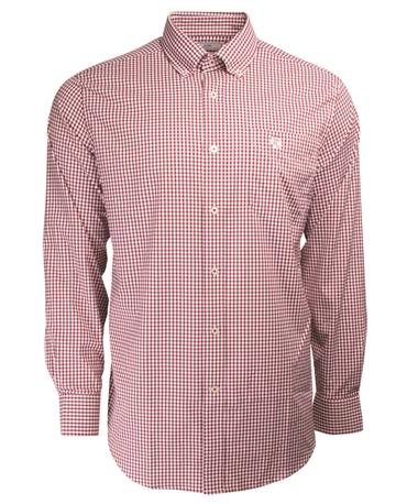 Southern Tide Texas A&M Game Day Gingham Button Down - Front CHIANTI