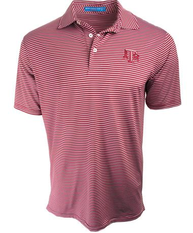 Southern Tide Texas A&M Gameday Stripe Polo CHIANTI