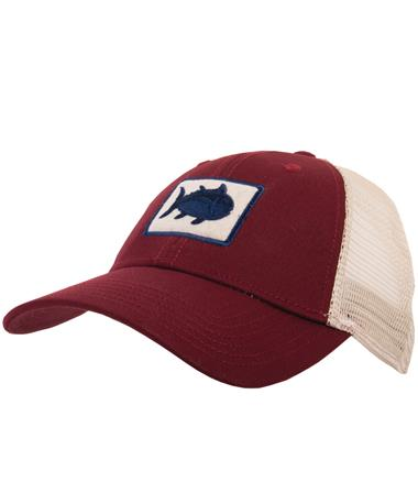 Southern Tide Texas A&M Skipjack Fly Cap - Front CHIANTI
