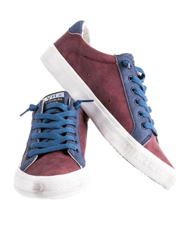 Lace Up Sporty Sneaker MAROON