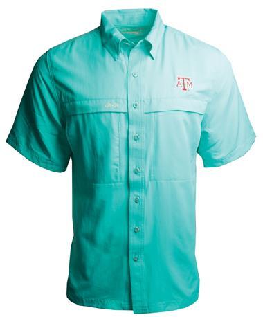 Mens GameGuard MicroFiber Shirt-front Caribbean