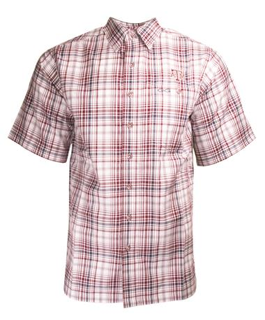 GameGuard Texas A&M Maroon Plaid Button Down - Front Maroon