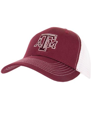 GameGuard Texas A&M MeshBack Cap - Maroon/White - Front Maroon/White
