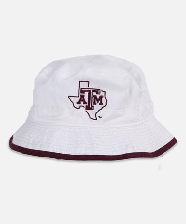 Texas A&M Lone Star Toddler Bucket Hat - Front White/Maroon
