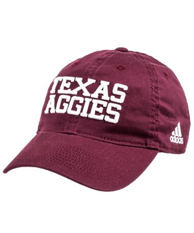 Adidas Texas Aggies Adjustable Slouch Cap Front Maroon